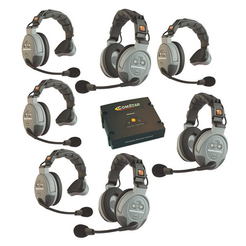 Eartec COMSTAR XT-7 7-User Full Duplex Wireless Talkback Intercom