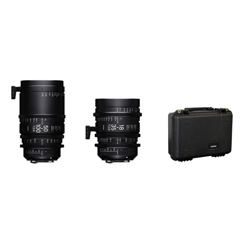 Sigma 18-35mm and 50-100mm Lenses with Case PL