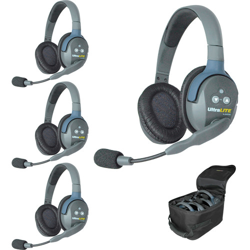 Eartec Ultra-Lite Headset System for 4 User Talkback Intercom