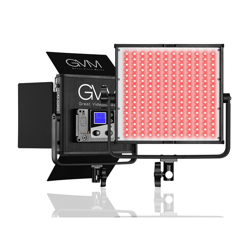 GVM 50RS LED Video Light (RGB Color)