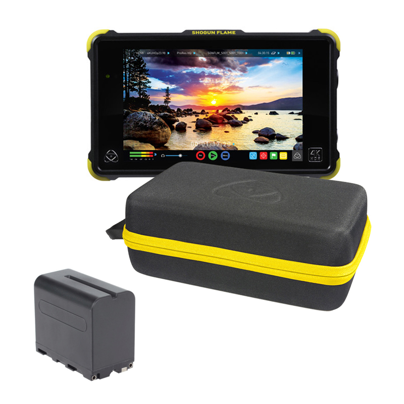Atomos Shogun Inferno 4K Recorder Monitor (Travel Kit) free battery