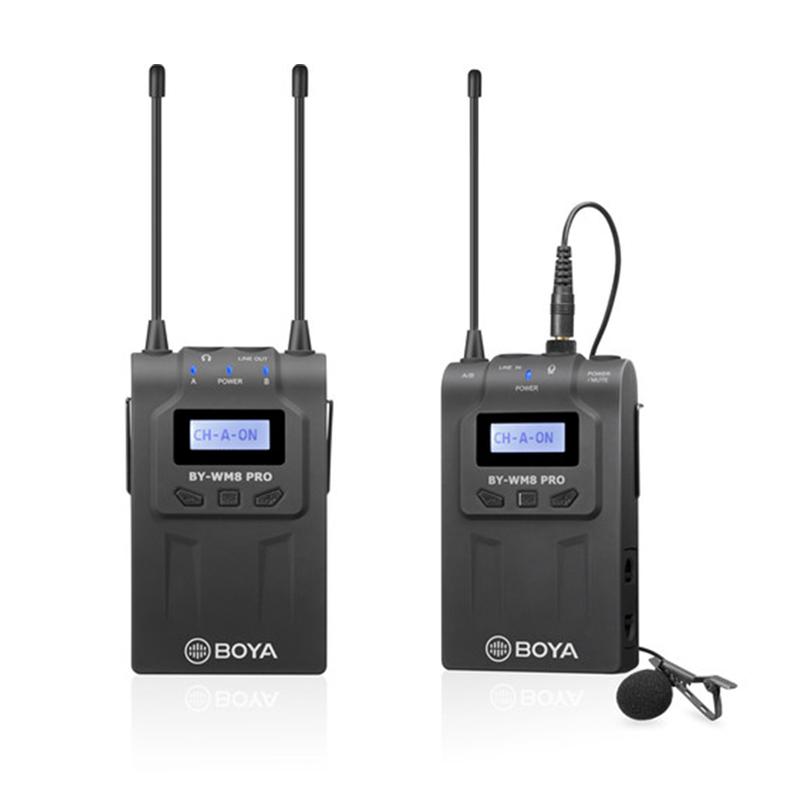 BOYA BY-WM8 Pro-K2 UHF Dual-Channel Wireless Lavalier System