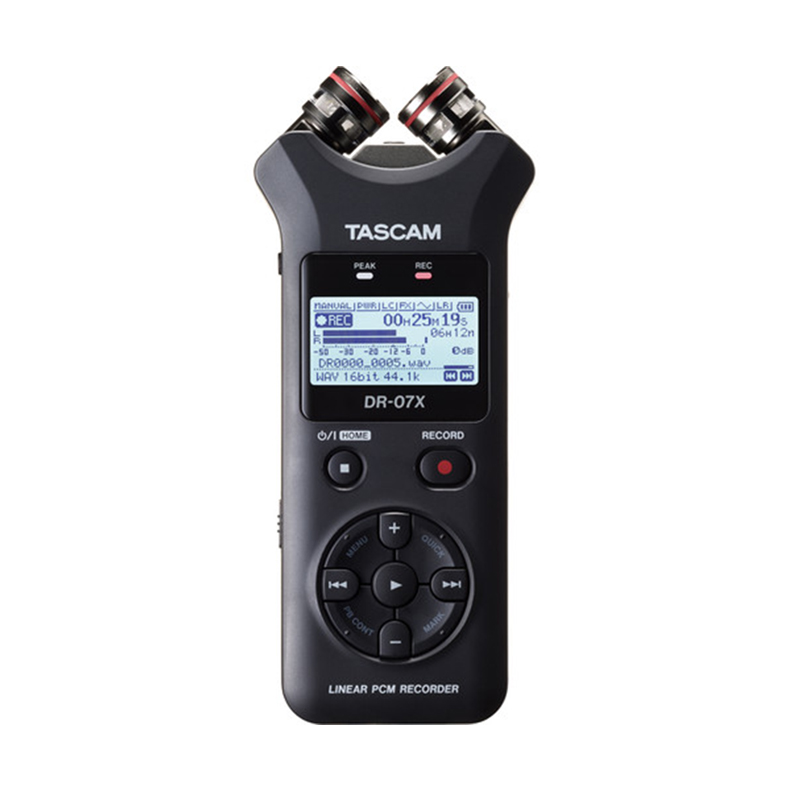 Tascam DR-07X Stereo Handheld Digital Audio Recorder with USB Audio Interface