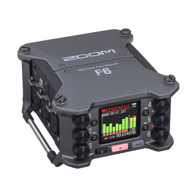 Zoom F6 6-Input 14-Track Multi-Track Field RecorderZoom F6 6-Input 14-Track Multi-Track Field Recorder