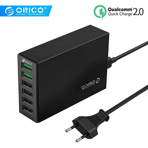 ORICO QSL-6U 6 Ports QC2.0 Quick USB Charger Mobile Phone Charger