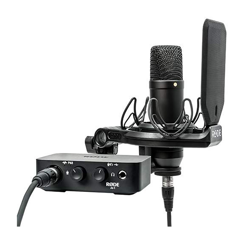 Rode NT1 Condenser Microphone & AI-1 One-Channel USB Audio Interface Pack