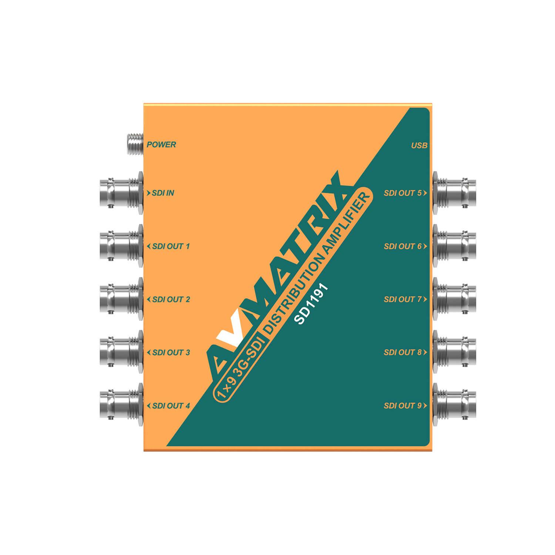 AVMatrix SD1191 1×9 SDI Reclocking Distribution Amplifier