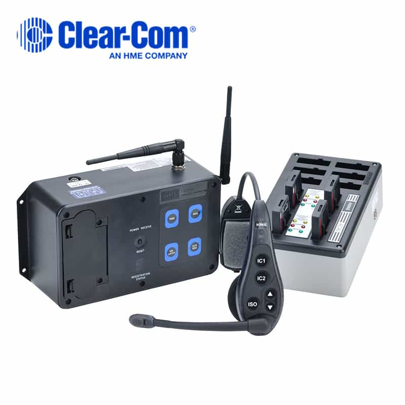 4165d74fa30 Clear-Com DX100 Portable Wireless Intercom System (WH200 Headsets ...