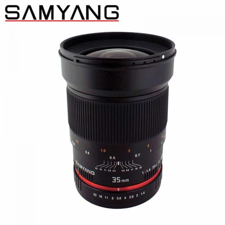 Samyang 35mm F1.4 (Canon) Video Lens with Filters & Case